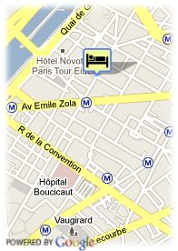 map-Hôtel Carina Tour Eiffel