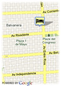 map-Apart Hotel Congreso