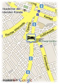 map-Erzherzog Rainer - Schick Hotels Wien