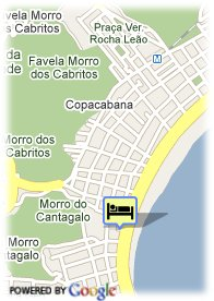 map-Hotel South American Copacabana