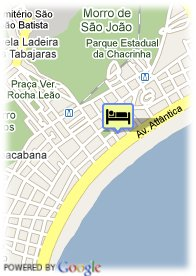 map-Hotel Oceano Copacabana