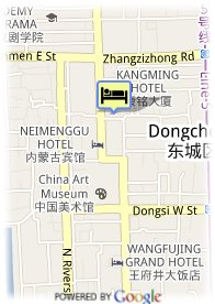 map-Kangming Hotel Beijing