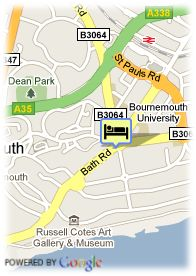 map-Hotel Britannia Bournemouth
