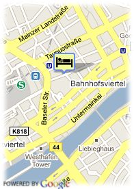 map-Hotel Comfort Frankfurt City  Center