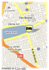 map-Hotel Grand Tonic Marseille