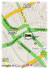 map-Hotel Kensington Court