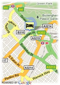map-Hotel Britannia Hampstead