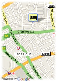 map-Hotel Think Earls Court