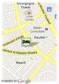 map-Hotel Barcelo Casablanca