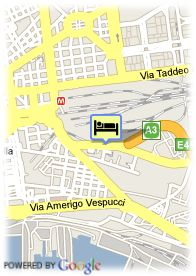 map-Hotel Ramada Naples