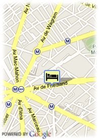 map-Royal Hotel Arc de Triomphe