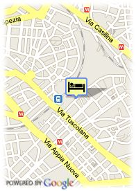 map-Hotel Express H.I. Rome S. Giovanni