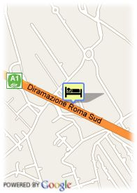 map-Hotel Fasthotel Roma Sud