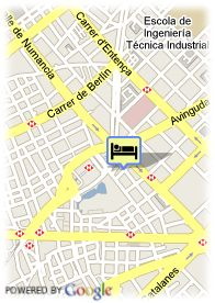 map-Hotel Expo Barcelona