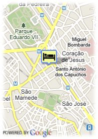 map-Hotel Marques De Pombal