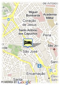 map-Hotel Lisboa Plaza