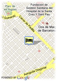 map-Hotel Sagrada Familia