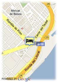 map-Hotel Barcelona Princess