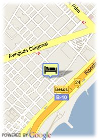 map-Hotel Husa Barcelona Mar