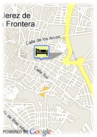 map-Hotel Barcelo Jerez