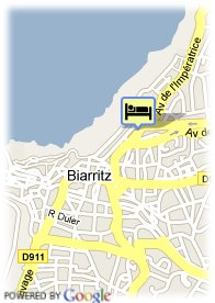 map-Hotel Grand Tonic Biarritz