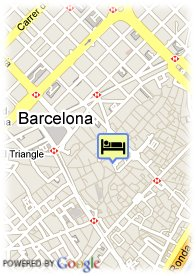 map-Hotel Barcelona Catedral