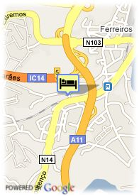 map-Hotel Comfort Inn Braga