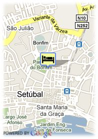 map-Hotel Riviera Setubal