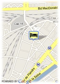 map-Hotel Paris Villette