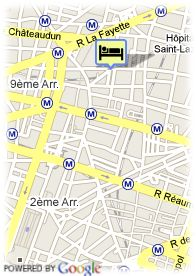 map-Hotel Pavillon Opera Bourse