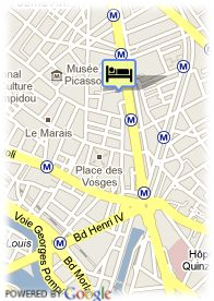 map-Hotel Villa Beaumarchais