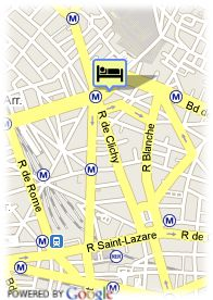 map-Hotel Place de Clichy