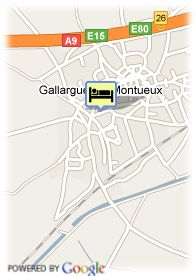 map-Hotel Gallargues Les Jasses Camargue