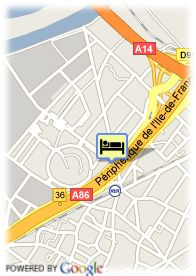 map-Hotel Quality Inn Nanterre