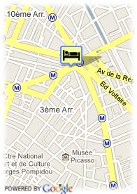 map-Hotel Meslay Republique