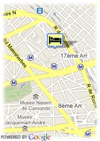 map-Hotel Pav. Monceau Palais Congress