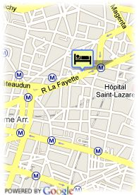 map-Hotel Montholon