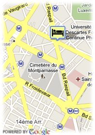 map-Hotel Villa Luxembourg
