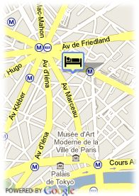 map-Hotel Amarante Champs Elysees