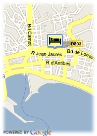 map-Hotel Cannes Riviera