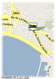 map-Hotel Home Business Cannes Croisette