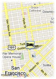 map-Hotel Renoir San Francisco
