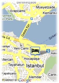 map-Hotel Orient Express Sirkeci