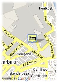 map-Hotel Dedeman Diyarbakir
