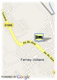 map-HoteliIence Ferney Geneva