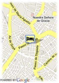 map-Hotel Husa Zaragoza Royal