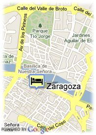 map-Hotel Nastasibasic ZGZ