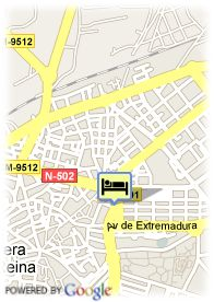 map-Hotel Be Smart Talavera