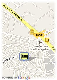 map-Hotel Beta Valencia