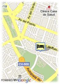 map-Hotel Barcelo Valencia